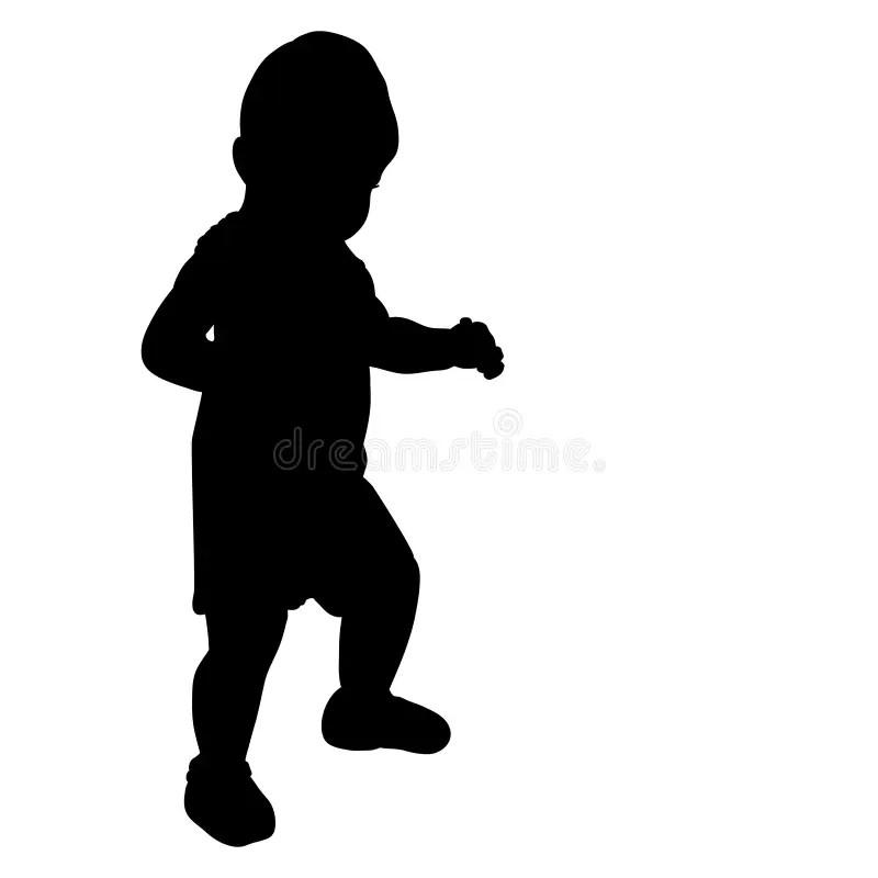 Silhouette Toddler Walking