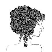 silhouette of beautiful woman