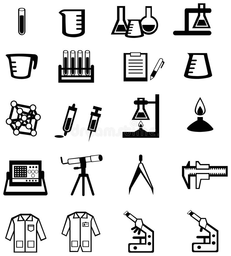 Silhouette Science, Chemistry, And Engineering Too Stock