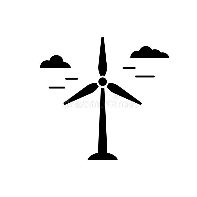 Wind Power Icon. Windmill Symbol On White Background