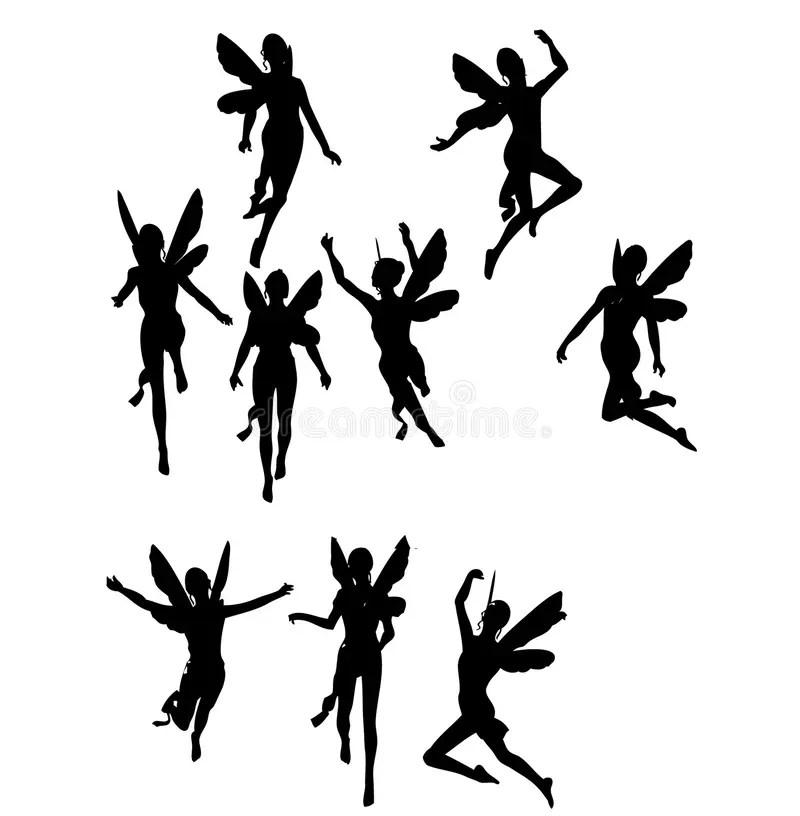 Silhouettes des anges illustration stock. Illustration du
