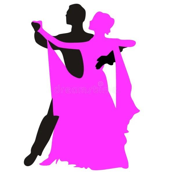 Waltz Dancing Couples Silhouette Dancers