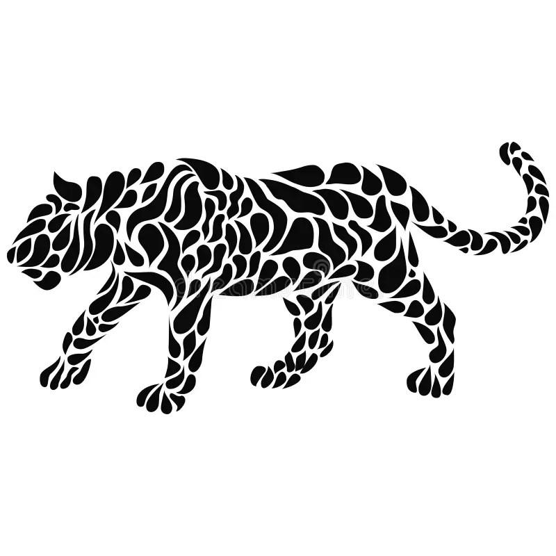 Tatuagem da leoa ilustração do vetor. Ilustração de