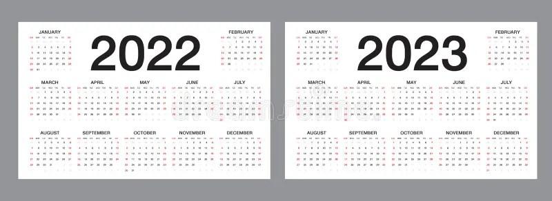 Calendar 2022, Week Starts From Sunday, Business Template