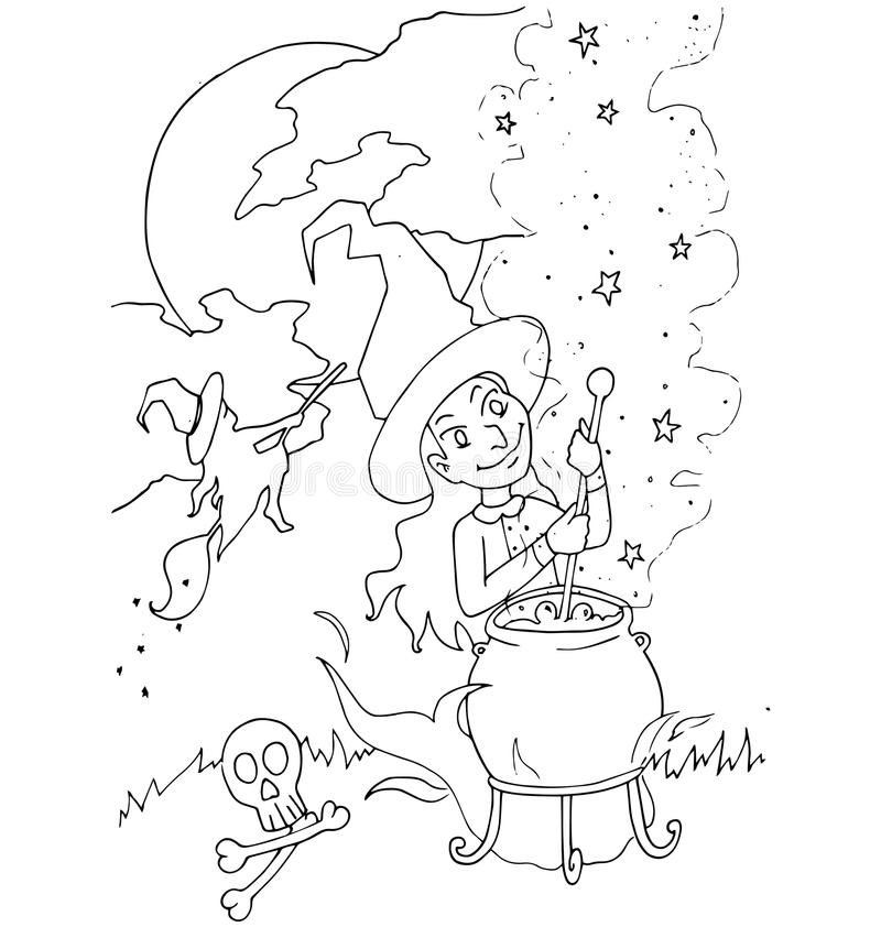 The Simple Coloring For Halloween Theme Made By Hand