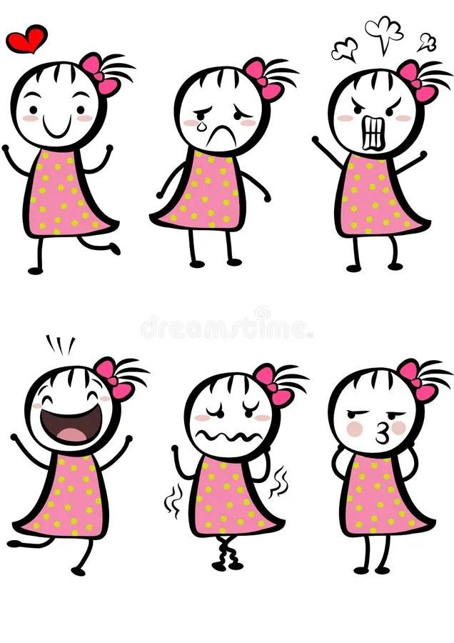 Simple Cartoon Girl : simple, cartoon, Simple, Cartoon, Stock, Illustration., Illustration, Child, 15572951