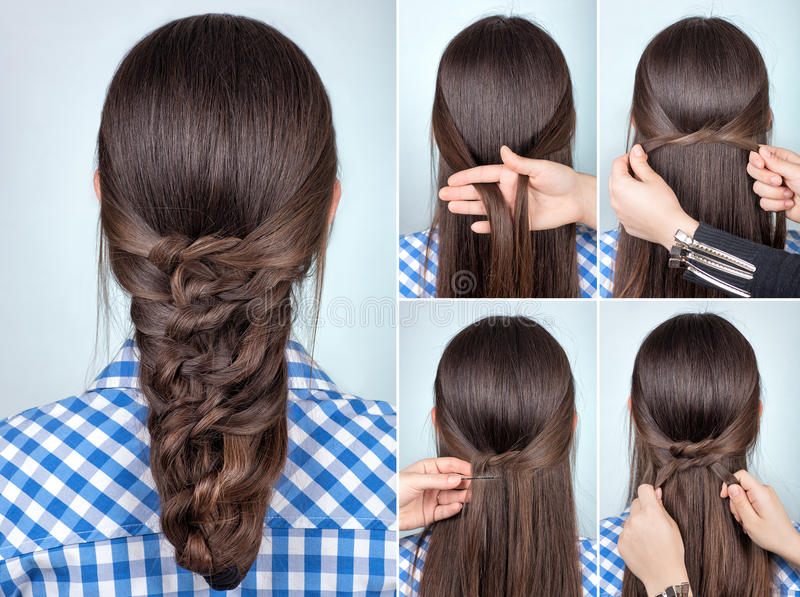 187 Simple Hairstyle Tutorial Photos Free Royalty Free Stock Photos From Dreamstime