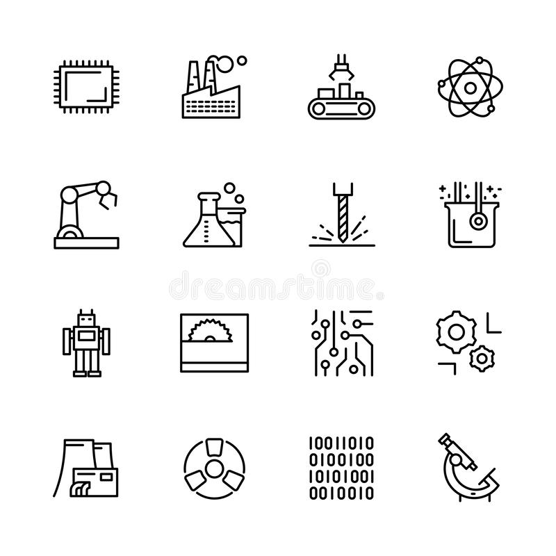 Manufacturing Plant Stock Illustrations