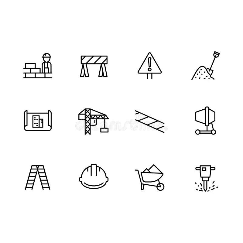 Engineering symbols stock illustration. Illustration of