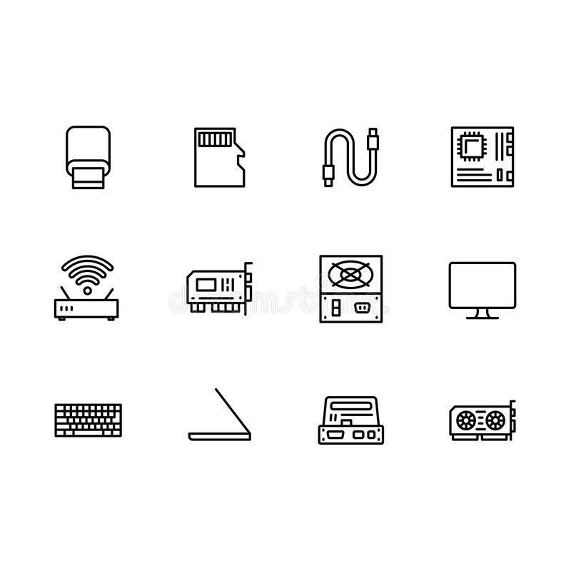 Hardware Symbols Stock Illustrations