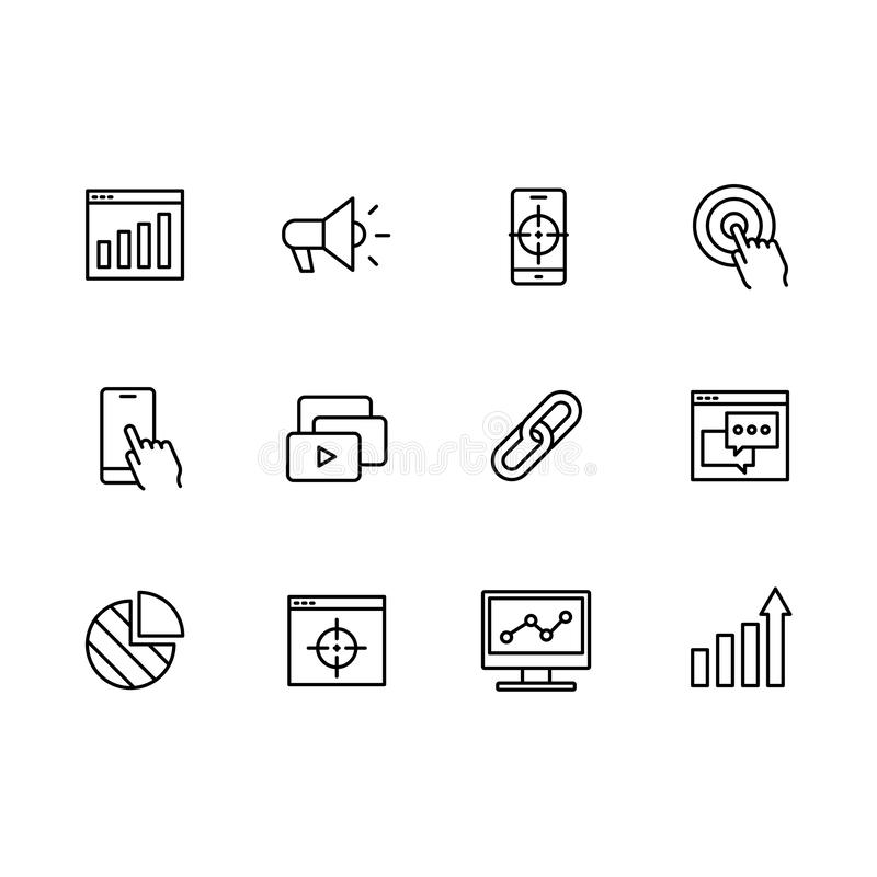 Social target icon stock vector. Illustration of service