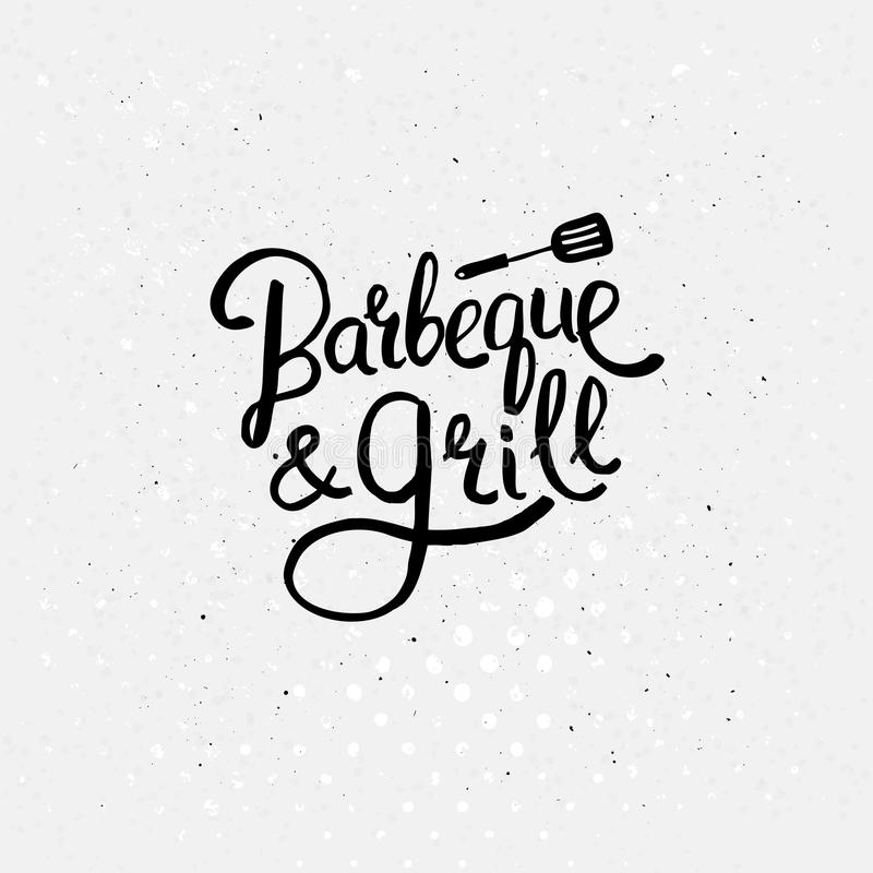 Grill Menu Special Offer Poster On Chalkboard Stock Vector