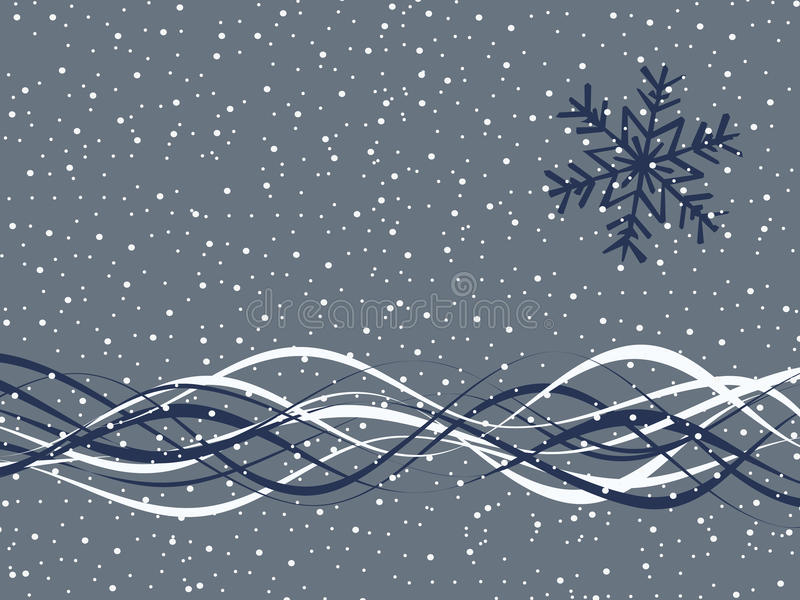 Christmas Snow Falling Wallpaper Simple Winter Background Stock Vector Illustration Of