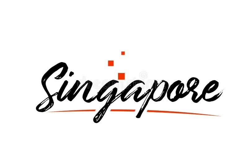 Singapore Country Flag Inside Map Contour Design Icon Logo