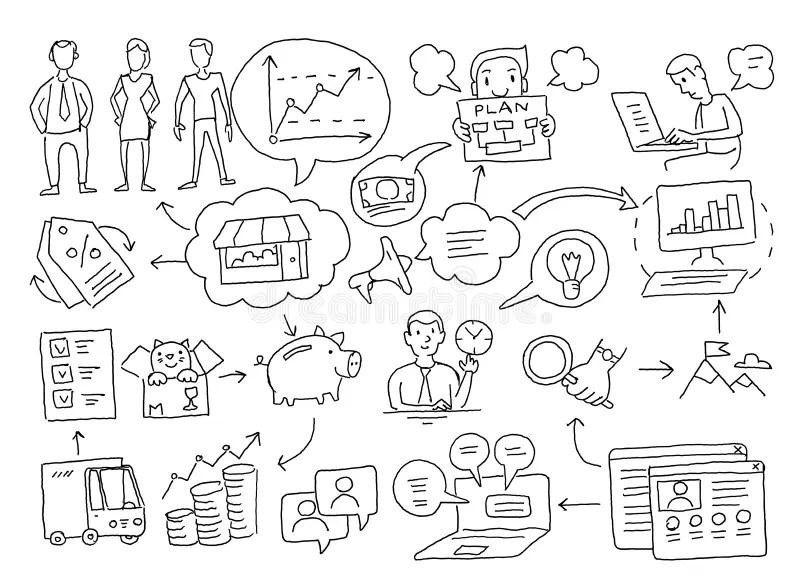 Business planning diagram stock illustration. Illustration