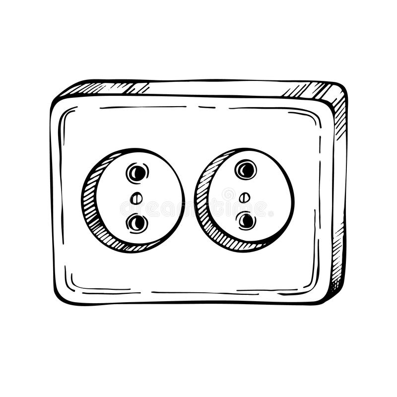 Cartoon Electrical Outlet Stock Illustrations