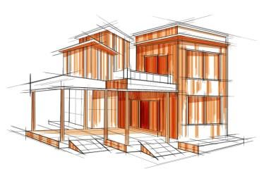 sketch building blueprint draft exterior illustration vector edit easy