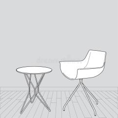 Drafting Table Chairs Patio Chair Leg Caps Sketch Of Modern Interior And Vector I Stock - Image: 33047810