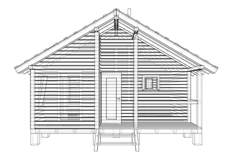 Sketch of the small house stock vector. Illustration of