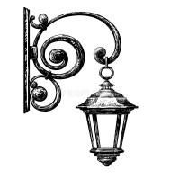 Sketch Of Street Light , Street Post Stock Vector