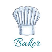 Sketched Chef Hat Or Baker Cap For Menu Design Stock ...