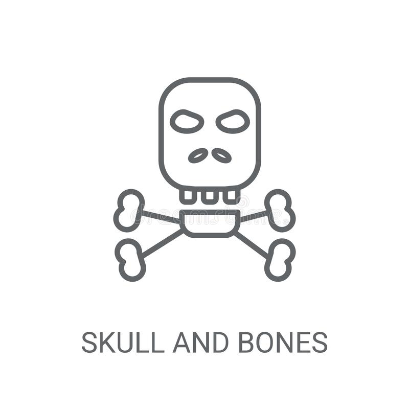 Background With Human Skulls And Bones Stock Illustration