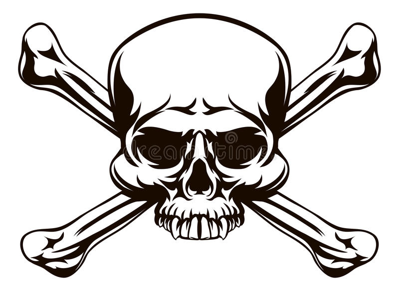 Skull And Cross Bones Sign Stock Vector Illustration Of Grim 79350796