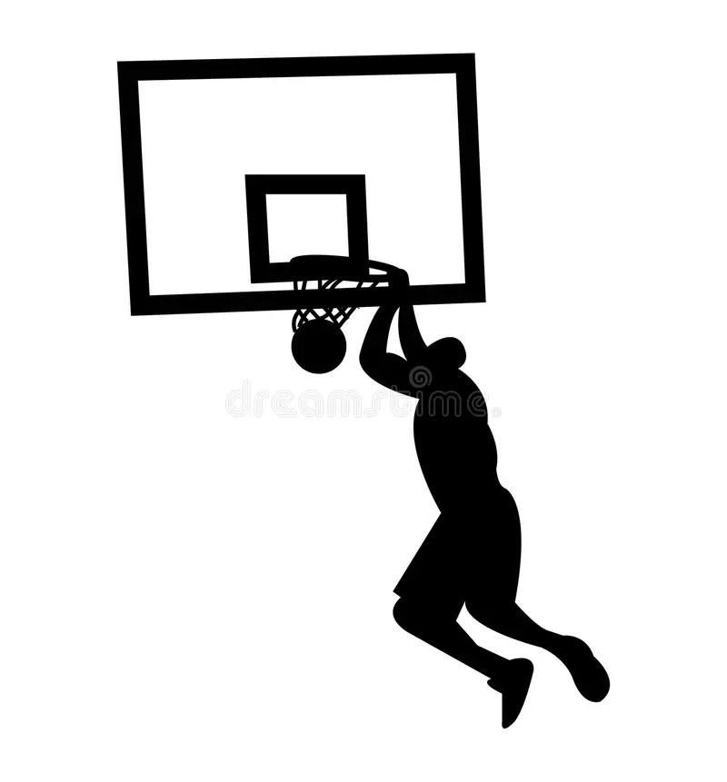 Basketball Player Doing Slam Dunk Stock Vector