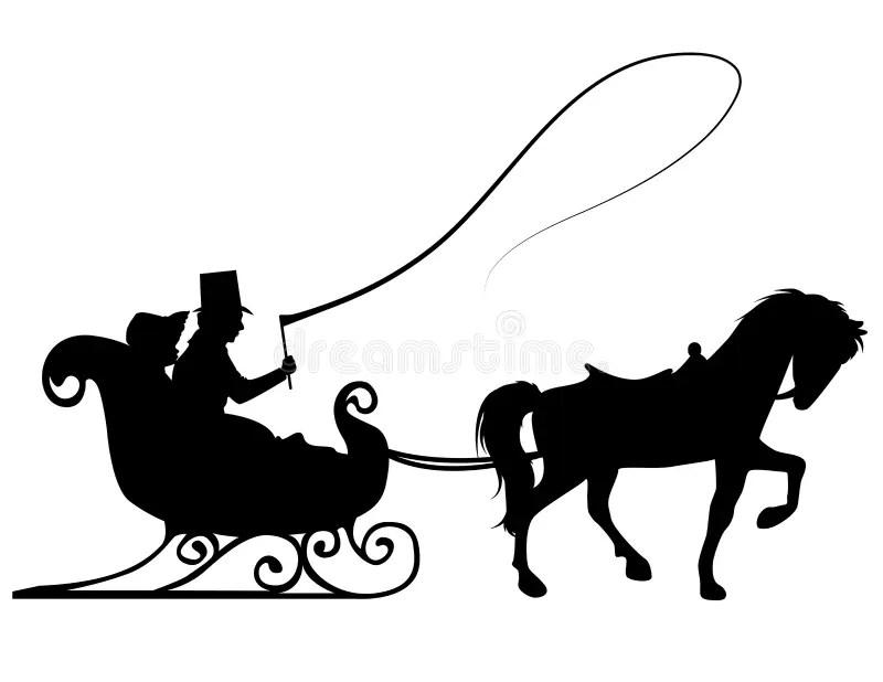 Sleigh Ride stock vector. Illustration of transportation