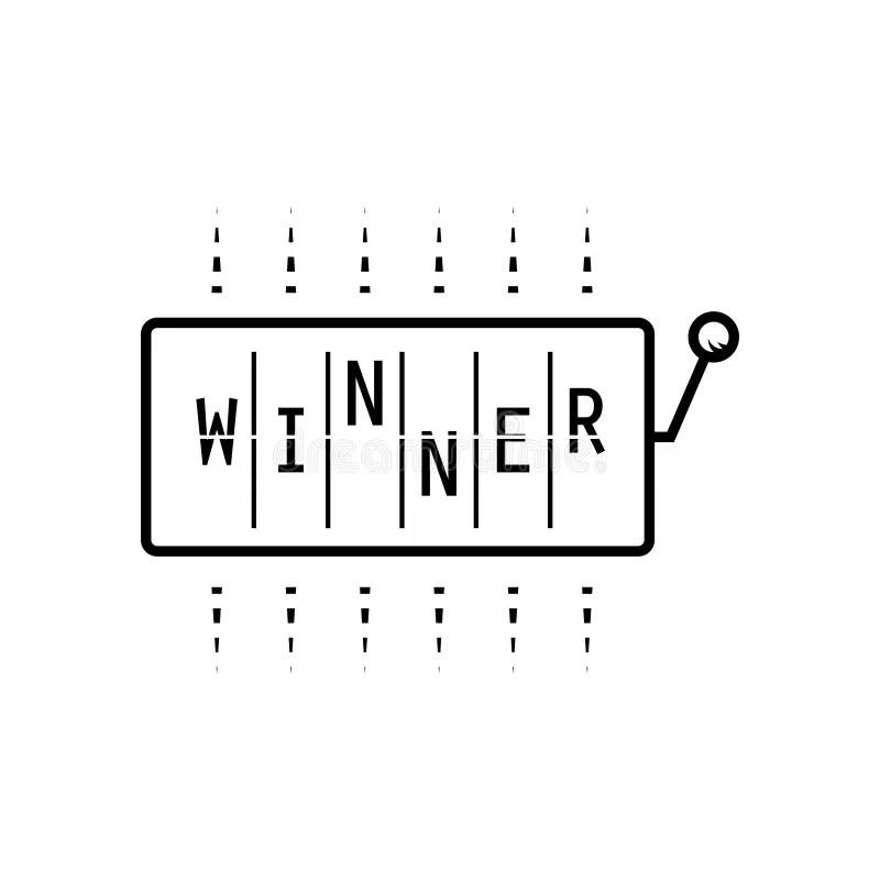 Wow Word Slot Machine Wheels Surprise Winner Jackpot Stock