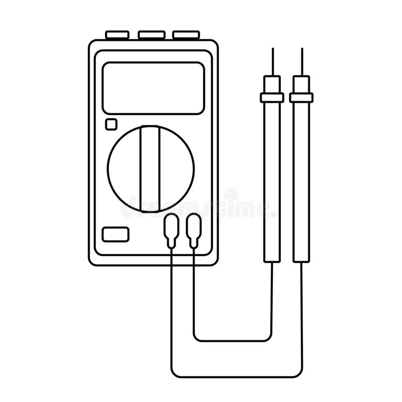 Electricity meter (GBP) stock illustration. Illustration