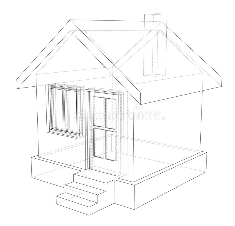 Simple House Sketch Stock Illustrations