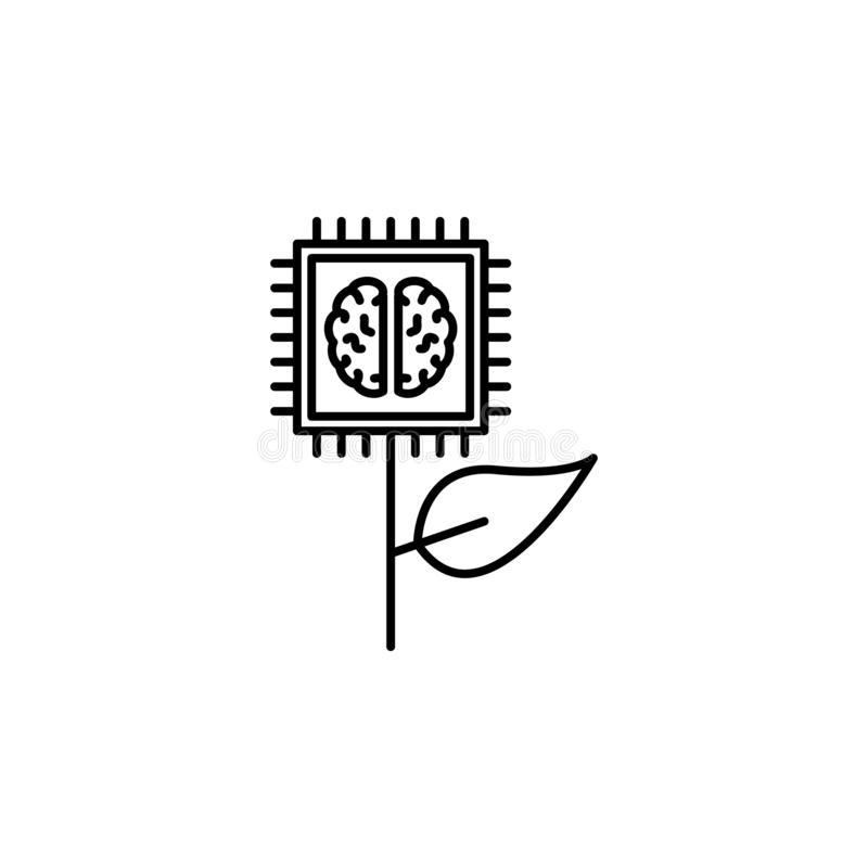 Psychology Logo Natural Concept Stock Vector
