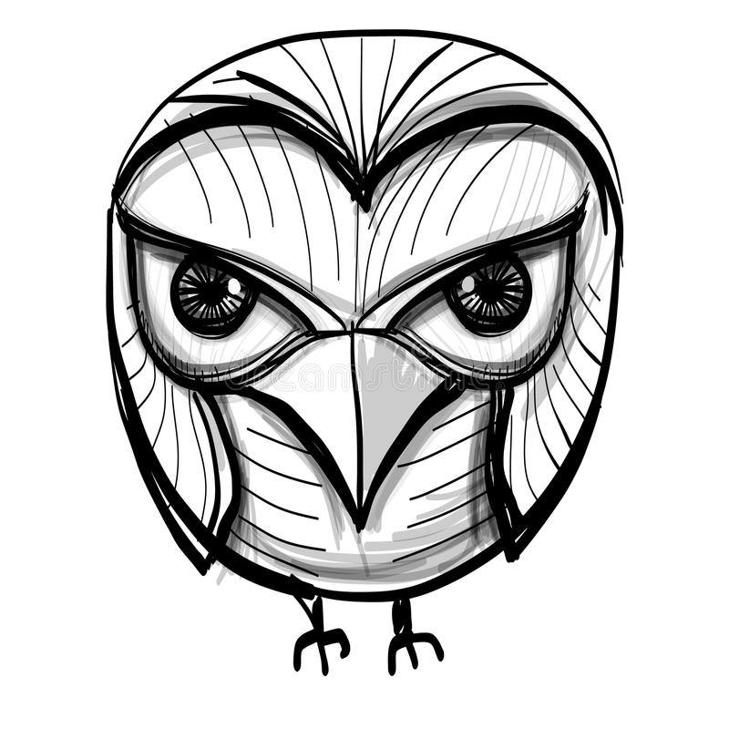 Bird Owl Symbol Of Wisdom Vector Illustration