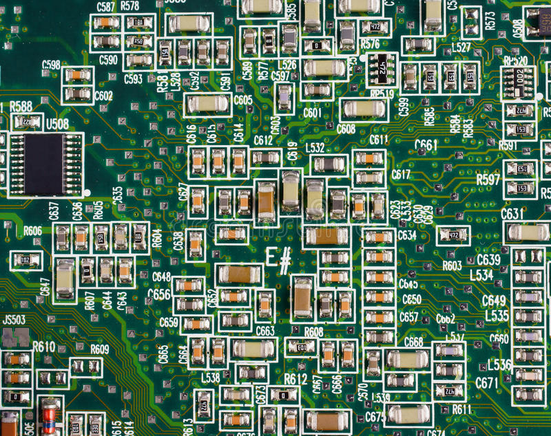 SMD Circuit Board Stock Image