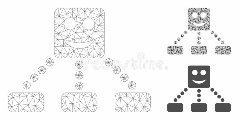 Geo Diagram Vector Mesh Carcass Model And Triangle Mosaic