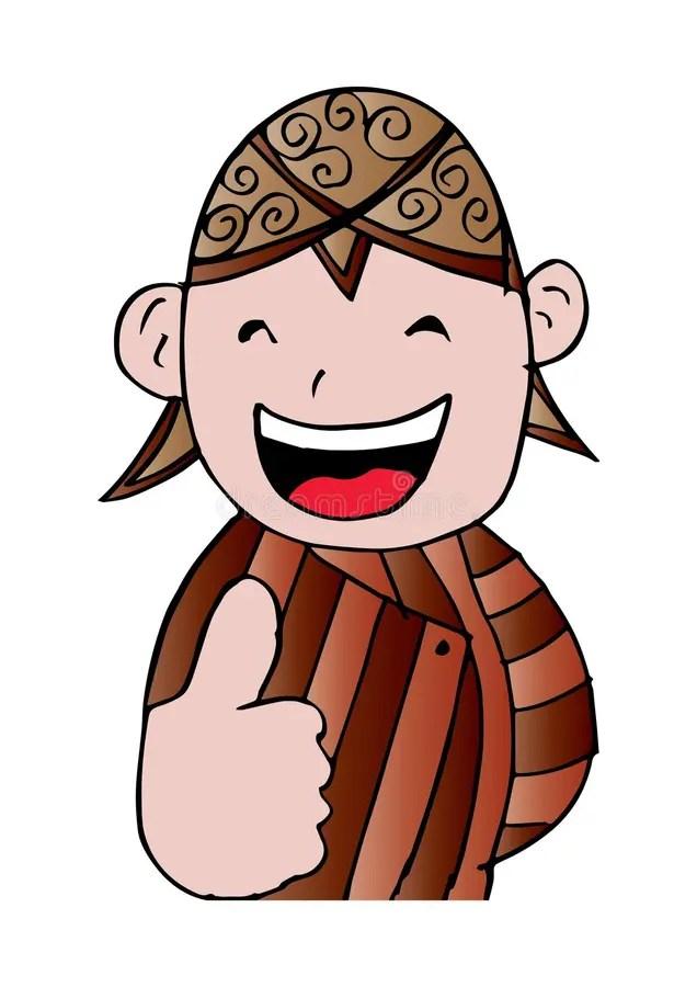 Kartun Blangkon : kartun, blangkon, Javanese, Traditional, National, Costume, Stock, Illustration, Javanese,, Shape:, 105320177