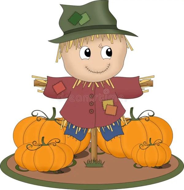 smiling scarecrow stock illustration