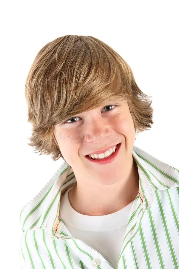 Smiling Teen Boy Stock Image Image Of Hair Fashion