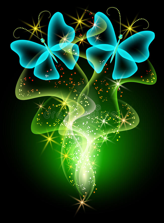 Glowing Butterfly Backgrounds