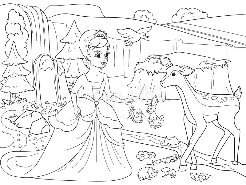 Childrens Playground Coloring. Vector Illustration Of