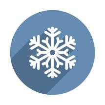 Snowflake Icon In Flat Design Style. Vector Stock