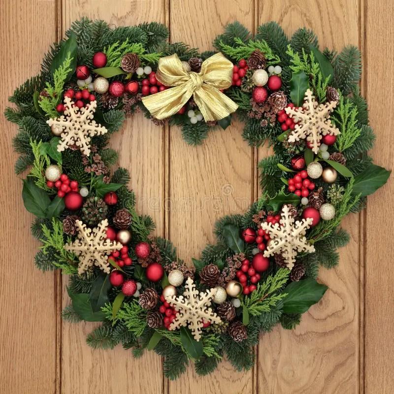 Snowflake Wreath Stock Photo Image Of Object Heart