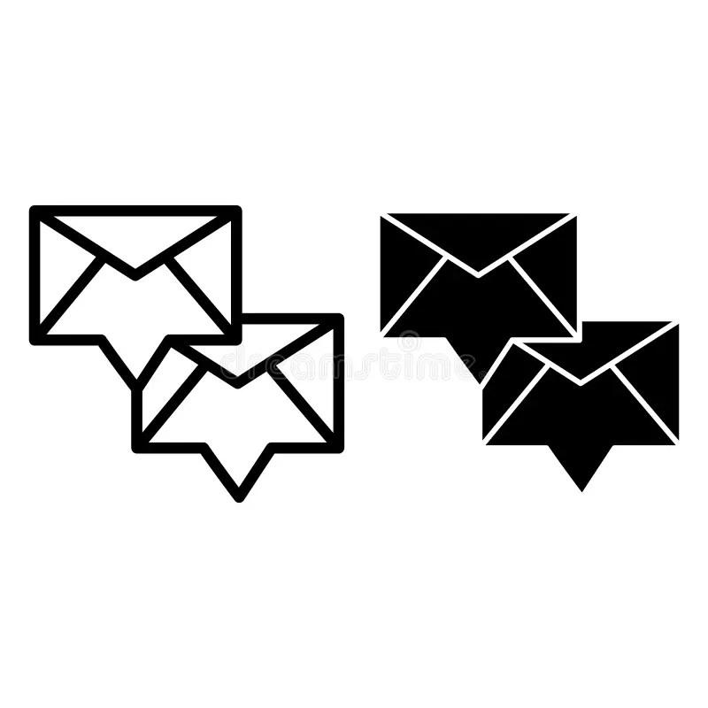 Icono Del Vector Del Correo Electrónico Ejemplo Blanco Y