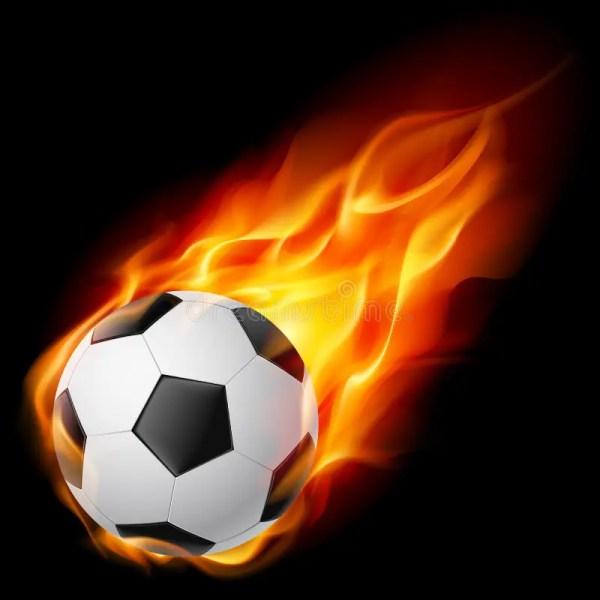 Soccer Ball Fire Stock Vector. Illustration Of Flame