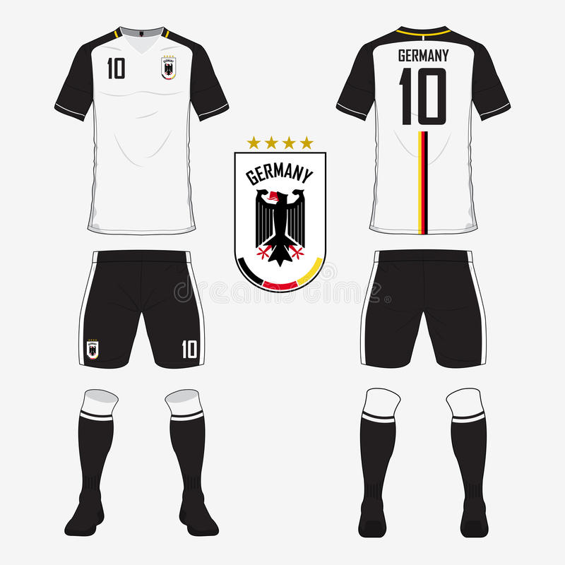 Soccer Jersey Or Football Kit Template For Germany