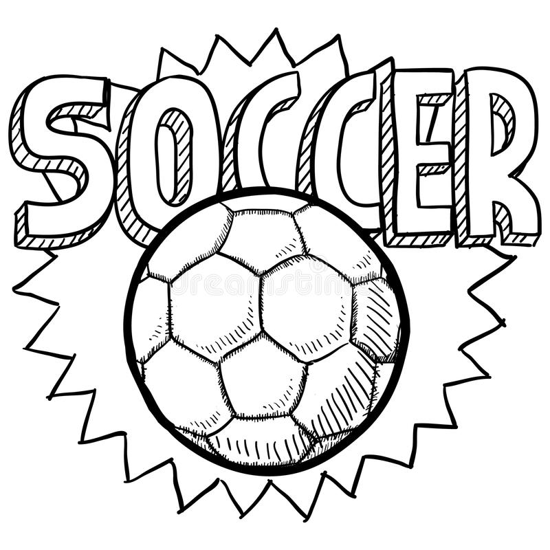 Football soccer sketch stock vector. Illustration of