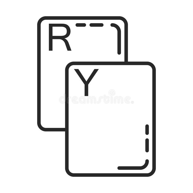 Hand Of Soccer Referee Showing Red Card Icon Stock Vector