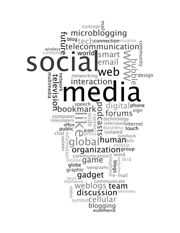 Social Media Info-text Graphics Word Clouds Royalty Free