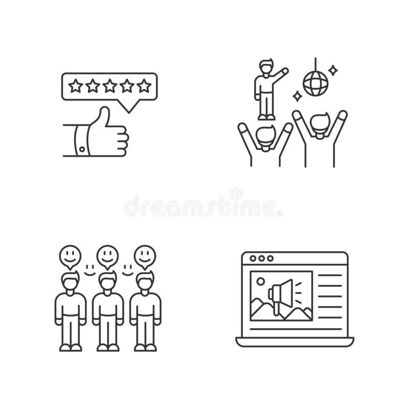 Review meeting stock illustration. Illustration of concept